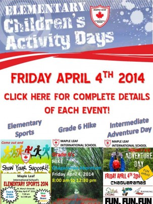ELEMENTARY ACTIVITY DAY POST