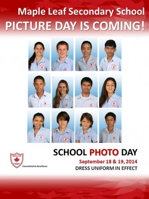 SCHOOL PHOTO DAY 2014